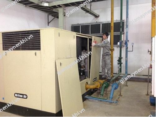 Người dùng cần chú ý ngắt nguồn điện trước khi sửa chữa máy nén khí