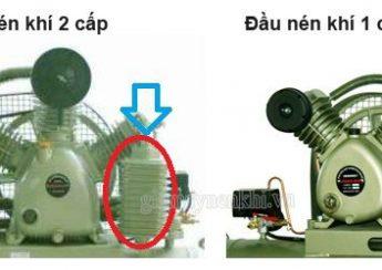 Người dùng có thể quan sát 1 vài điểm hình thức bên ngoài để phân biệt máy nén khí Piston cấp 1-2