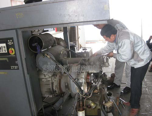 Sửa chữa máy nén khí trục vít