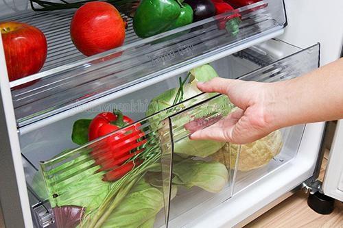 vệ sinh ngăn dưới tủ lạnh