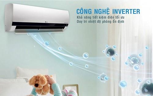 Điều hòa nhiệt độ đang sử dụng công nghệ inverter để tiết kiệm điện