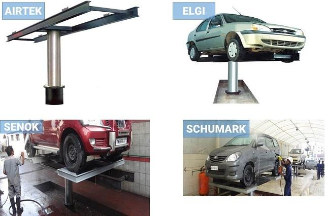 các loại cầu nâng ô tô 1 trụ rửa xe