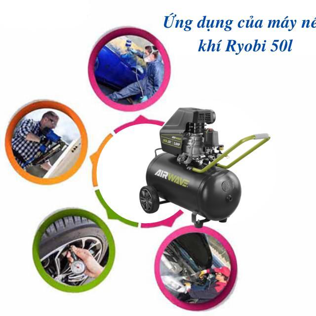 Máy nén khí ryobi 50l được sử dụng phổ biến trong cuộc sống